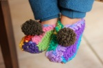 Crotchet Rainbow Slippers